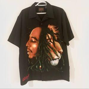 Y2K Bob Marley Button-Up